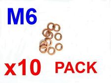 Copper Washers 6mm x10 Pack Copper Gaskets/Sealing Washers M6x12x1