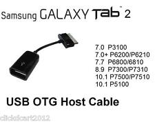 USB Host On-The-Go OTG Adapter Cable For Samsung Galaxy Tab