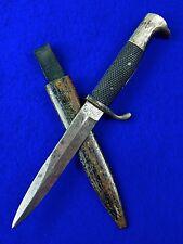 RARE German Germany WW1 WWI WWII WW2 Boot Fighting Knife w/ Scabbard