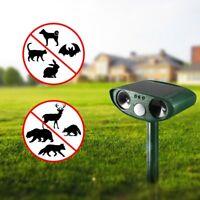 Solar Powered Ultrasonic Garden Cat Dog Pest Animal Repeller Scarer