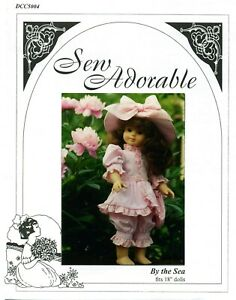 Sew Adorable Doll Clothes Pattern, fits American Girl, Victorian Bathing Costume