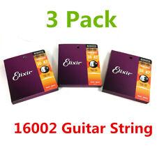 3pack Elixir 16002 Phosphor Bronze Extra Light Acoustic Guitar Strings 10 - 47
