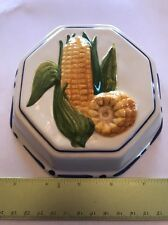 ABC Bassano Ceramic Hangable Decorative Corn Plant Hand Painted Mold Italy