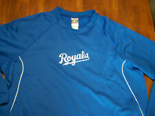 Kansas City Royals Majestic Thema Base Sweatshirt 2XL EUC