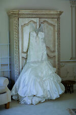 Stunning Allure Bridal Gown Style 9007 Pearlescent Diamond White Crystals $1995