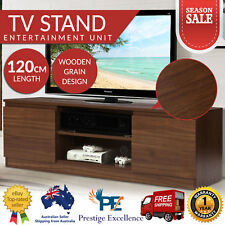 Wooden TV Stand Entertainment Side Cabinet Unit Storage Drawers 120cm LCD LED AU