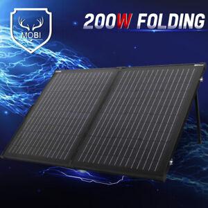 200W 12V Folding Solar Panel Mono Cell Super Light 5m Cable No Glass