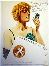HOHLWEIN LITHO-PLAKAT Gerasch-Druck Leipzig Elegante Frau Design-Schachtel 1925