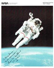 Bruce McCANDLESS Signed Autograph Litho Photo COA AFTAL NASA Space Astronaut