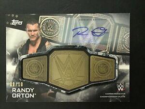 2019 TOPPS WWE RANDY ORTON CHAMPIONSHIP BELT MEDALLION AUTO 9/10 Autograph!