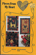 Pieces From My Heart - Feline & Flowers - #130 - Sandy Gervais - 1994 - 3 quilts