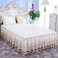 Korea Stereoscopic Lace Bed Cover Non-slip Princess Sheets King Queen Full Twin