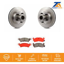 Front Disc Rotors And Hub Assembly & Semi-Metallic Brake Pads Fit Chevrolet G20