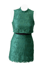 Topshop vestido señora cóctel vestido de fiesta vestido dress talla 34 (XS) verde