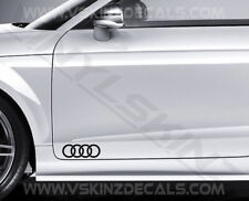 2x Audi Rings Logo Premium Cast Door Decals Stickers TT RS Quattro S3 S5 S-line