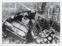 Über Italien abgeschossener Bomber, Orig-Pressephoto von 1944