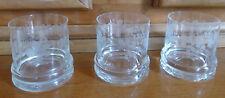 Trois verres à vin BLANC ALSACE fait main décor artisanal