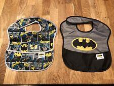 Set Of 2 Bumkins Dc Comics Batman Starter Bib (3-9 Months) New! Infant Baby