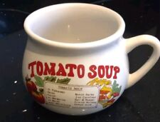 Vintage Retro Ceramic Soup Mug tomato Soup Recipe Bowl free uk p&p