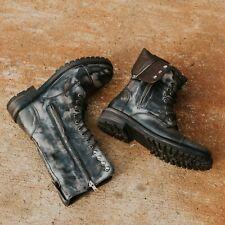 Freebird Mens Ranger Black Grey Distressed Boots 12 US