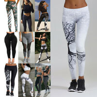 Women Sport Gym Yoga High Waist Running Pants Fitness Elastic Leggings Workout