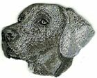 """2"""" x 2 5/8"""" Grey Gray Brown Weimaraner Dog Breed Embroidered Patch"""