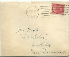 EArly Montreal 'A' straight line machine cancel 1902 cover Canada