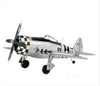 "P-47 Jug Thunderbolt Republic Fighter Bomber Metal Model 12"" WWII Airplane Decor"