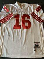 Throwback Joe Montana 49ers Authentic Mitchell & Ness Jersey Size 52 White