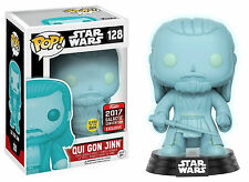"GCE EXCLUSIVE STAR WARS QUI GON JINN HOLOGRAPHIC 3.75"" POP VINYL FIGURE FUNKO"