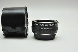 Sakar Auto 2X Teleconverter Tele Converter For Pentax PK Mount K1000 K2 Lenses