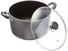 Non-Stick Aluminum Cooking Sauce Pot w/ Glass Lid - 14 QT
