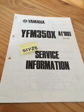 Yamaha YFM350X A 90 Banshee quad service information technique technical data