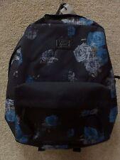 """Vans Kids Backpacks """"Rosette"""" -- Color Black/Blue"""
