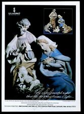 1982 Lladro Nativity Set porcelain figures photo vintage print ad