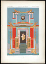Greco-Roman Antiquities Pompeii 1877 Racinet Chromolithograph Early Art Nouveau