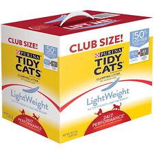 Tidy Cats Kitty Litter Light Weight Cat Litter 19.5 pounds Clumping Club Size