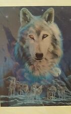 TWO 5X7 INCH WOLF PICTURES