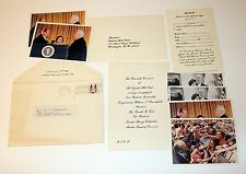 Gerald R. Ford Capital Hill Club Invitation with Publicity Photos 1974