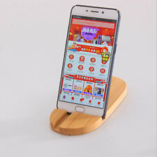 Tablet Pad Display Clip Holder Mobile Phone Wooden Display Stand Tray Base 6A