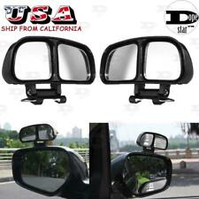 Car Adjustable Stick On Rear View Auxiliary Blind Spot Mirror Wide Angle Convex