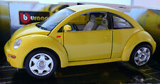 Burago Gold Collection #3302: VOLKSWAGEN NEW BEETLE 1998 - Yellow, 1:18 Diecast