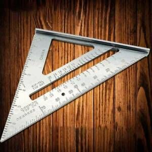 "SPEED SQUARE ROOFING RAFTER ANGLE TRIANGLE GUIDE QUICK MEASURE 7""ALUMINIUM ALLOY"