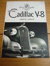 CADILLAC V8 SERIES 60 AND 65 CAR SALES BROCHURE jm