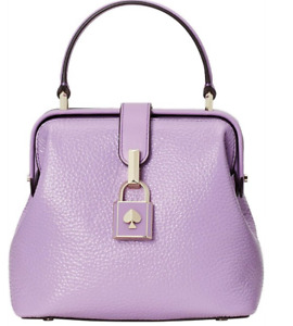 """Kate Spade New York """"Remedy"""" Small Top-Handle Leather Convertible Bag Iris Bloom"""