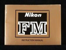 NIKON FM ORIGINAL INSTRUCTION MANUAL IN ENGLISH NICE CONDITION.