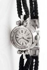 Vintage 1950s OMEGA .20ct VS G Diamond 18k White Gold Ladies Watch