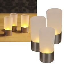 """3er Set LED Teelichter """"Wind Light"""" flackernd Kerzen Teelicht Windlicht Kerzen"""