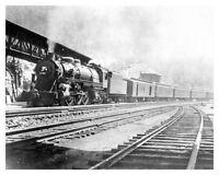 Lehigh Valley Railroad Steam Engine 2096 Black Diamond 8x10 Silver Halide Photo