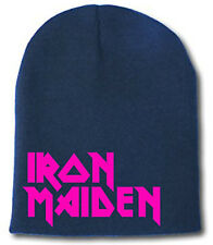 Iron Maiden - Beanie/Ski-Hat ~PINK~ Classic Logo NWOT (Judas Priest/Sabbath/DIO)